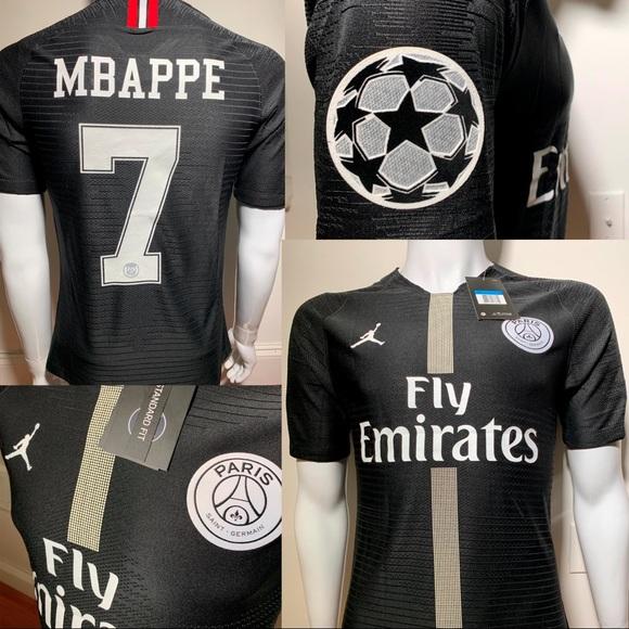 finest selection 644b2 77e5c 2018/2019 PSG Jordan jersey Home Mbappe #7 NWT